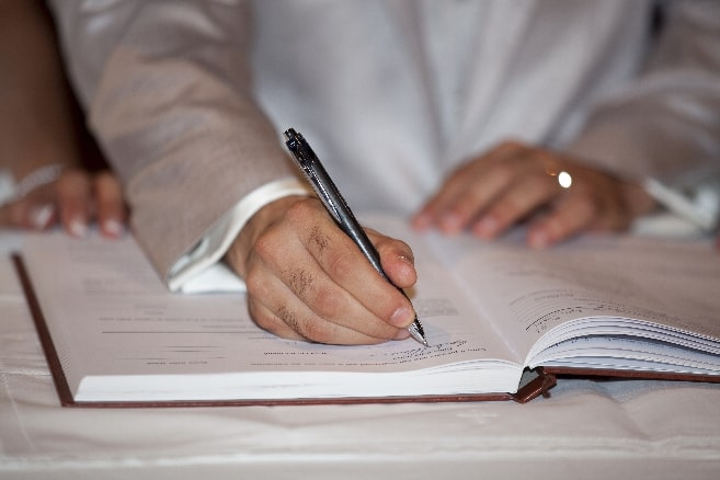 marriage signatures
