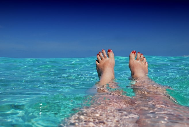 swimming and enjoying life after divorce