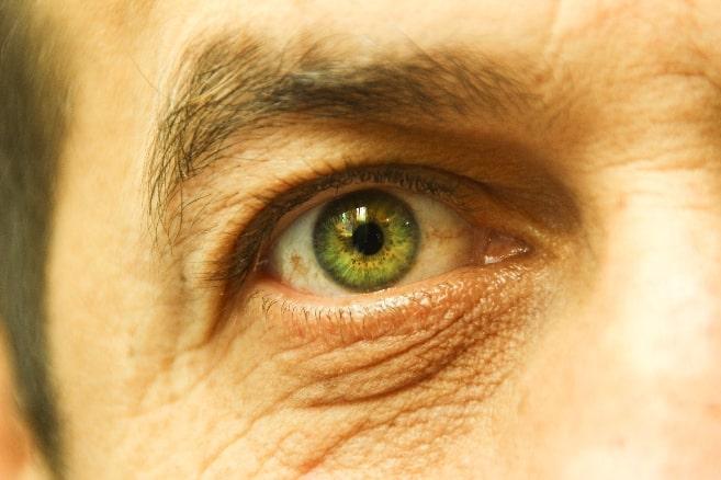 green old eye